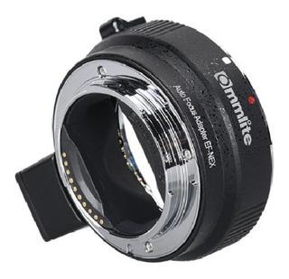 Adaptador Automatico Commlite - Lente Canon Ef Camara Sony E