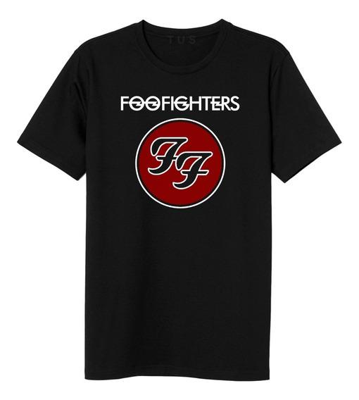 Camiseta Foo Fighters Camisa Masculina Banda De Rock