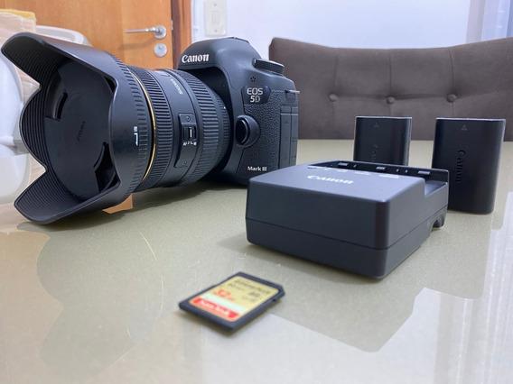 Câmera Canon 5d Mark Iii + Lente Sigma Ex 24-70mm 1:2:8