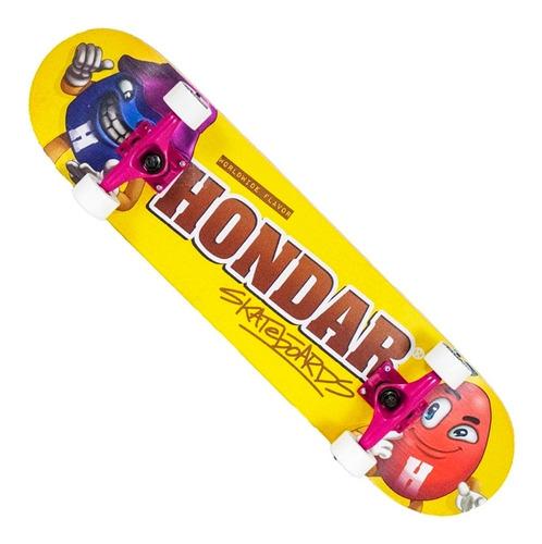 Imagem 1 de 5 de Skate Montado Hondar Iniciante Chocolate