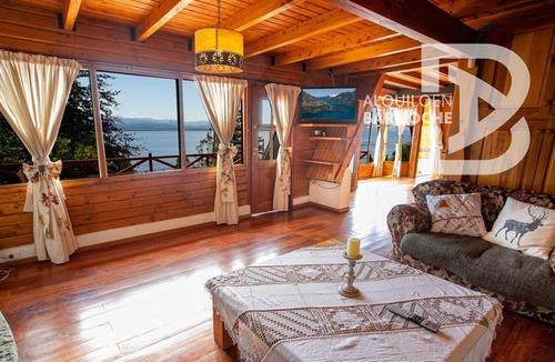 Imagen 1 de 14 de Hermosa Casa Con Vista Al Lago Para 5 Bariloche