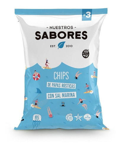Imagen 1 de 5 de Chips Papas Rusticas Sal Marina X 90g