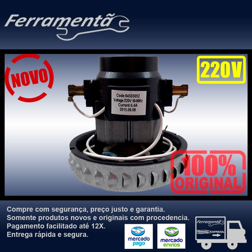 Imagem 1 de 5 de Motor Aspirador Electrolux A10n1/aqp20/gt20n/gt30n 220 V