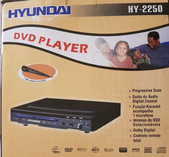 Dvd Player Hyundai Com Função Karaokê
