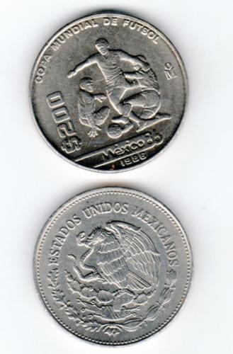 Imagen 1 de 2 de Moneda México 200 Pesos 1986 Mundial Fútbol México'86 Nueva