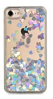Funda iPhone Lentejuelas Corazón Liquid Quicksand 6 7 8 Plus
