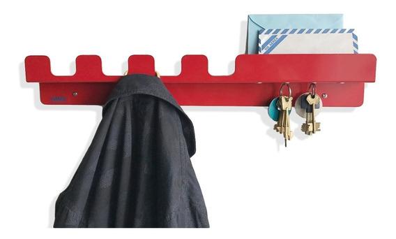 Perchero Porta Llaves Iman Momo De Buen Diseño Chapaobjetos