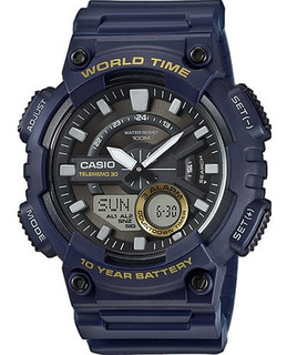 Reloj Casio Analogico Digital Iluminator World Timer