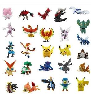 Kit 24 Miniaturas Pokémon Brinquedo Sortidos 3,5cm No Brasil