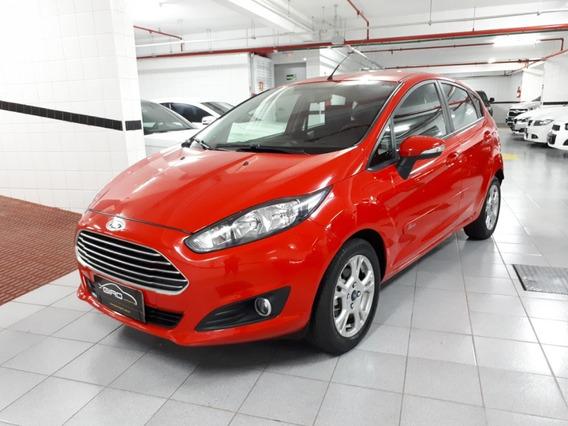 Ford Fiesta Hatch 1.6 Sel 2017 Vermelho Completo 19 Mil Km