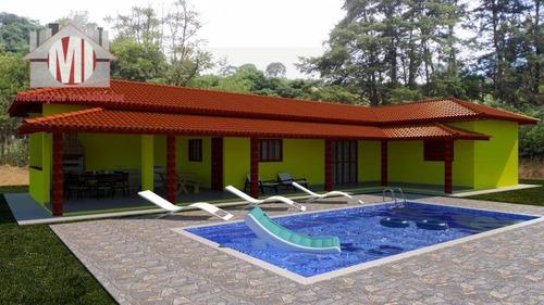 Linda Chácara Em Construção, Com 3 Dormitórios, Pomar, Bem Localizada, À Venda, 4500 M² Por R$ 390.000 - Rural - Pedra Bela/sp - Ch0873