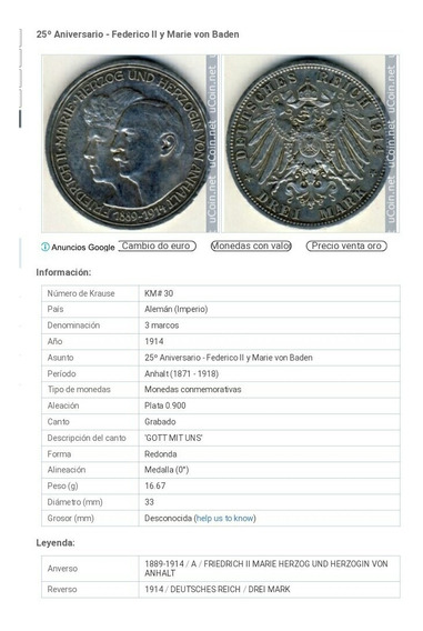 Moneda Alemana 1914