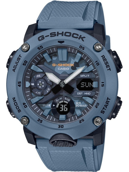 Relogio Casio G-shock Carbon Core Guard Ga-2000su-2adr + Nfe