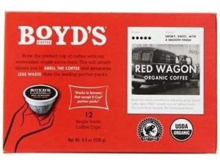 Carro Rojo Orgánico Café Oscuro Asado, 12 Count (paquete De