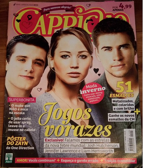 Revista Toda Teen Jogos Vorazes (antiga) Frete Gratis