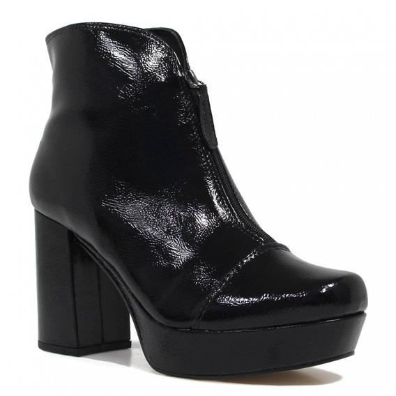 Bota Zariff Shoes Ankle Boot Verniz 3777701