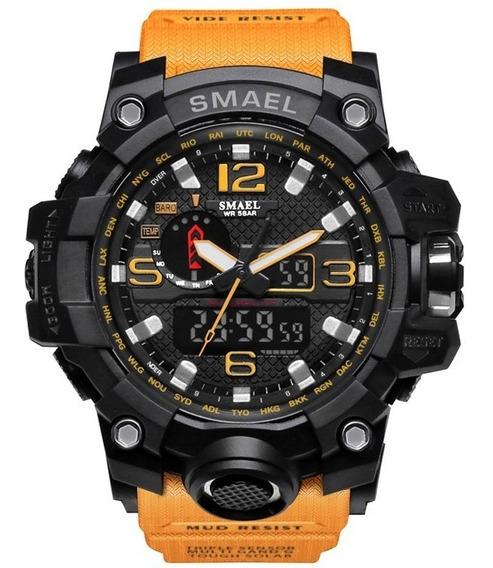 Relógio Tático Militar Smael 1545 Original A Prova D