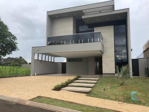 Casa Com 4 Dormitórios À Venda, 410 M² Por R$ 3.500.000,00 - Jardim Olhos D'agua - Ribeirão Preto/sp - Ca0787