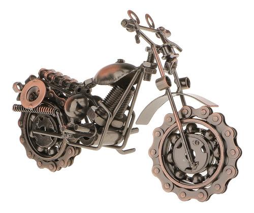Decoración Moto De Vendimia Metal Motocicleta Artesanía