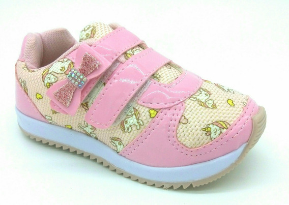 Tênis Unicórnio Infantil Menina Com Velcro