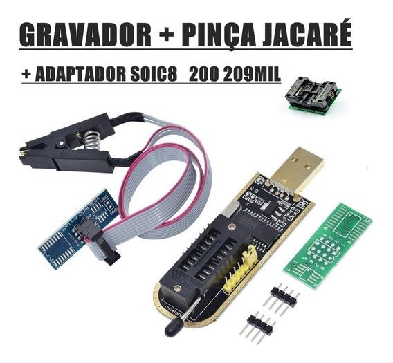 Programador Gravador Eprom Bios Flash Ch341a + Adaptador