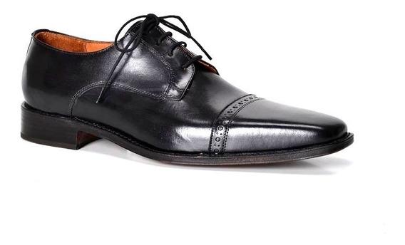 Zapatos De Cuero Negro Para Hombre