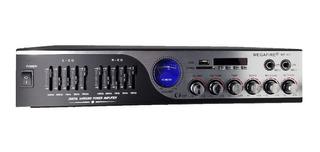 Amplificador Estereo Bluetooth Karaoke Usb Sd Aux Carro Casa