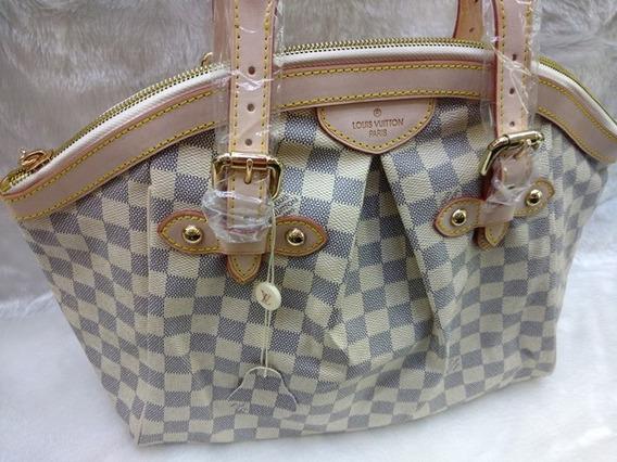 Bolsa Louis Vuitton Tivoli Couro Damier Azur