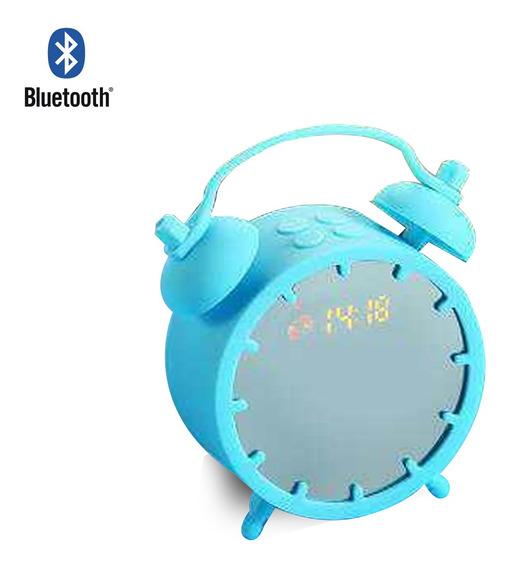 Caixa De Som 2 Em 1 Relógio Digital De Mesa Sd Usb Mp3 Aux