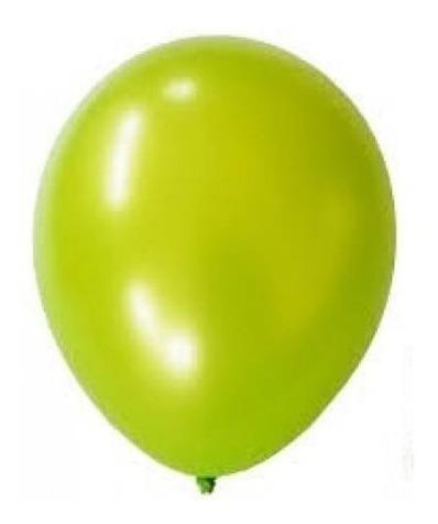 Globos Perlado Color Verde Manzana 12 Pulgadas X 50 U