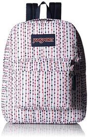 Mochila Jansport Branca Jannvyfrrowspot School Backpack