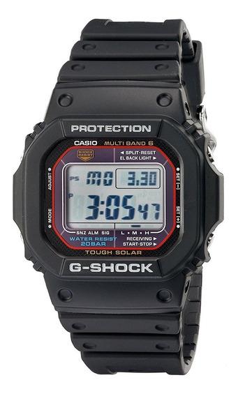 Reloj Casio Gwm5610-1 Solar Con Banda Negra Para Hombre