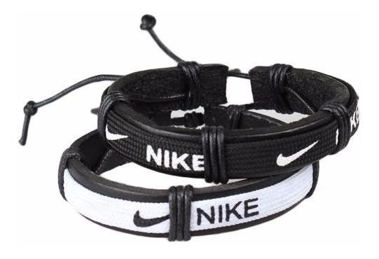 Pulseira Masculina Nike adidas Couro Legítimo Tribal