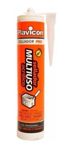 Sellador Acrílico Multiuso Plavicon Grietas Fisuras 450 G Mm