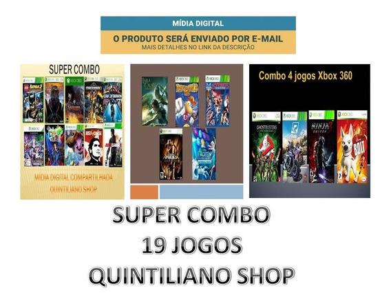 Jogos Xbox 360 Mídias Digitais Super Combo 19 Jogos