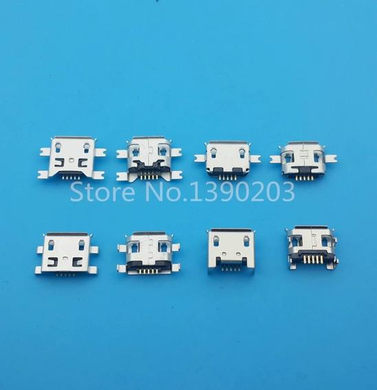 10 Pcs Micro Usb Fêmea 5pin 8 Modelos Cada Tipo
