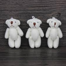 24 Ursinho Branco 11 Cm Articulado Lembrancinha Maternidade