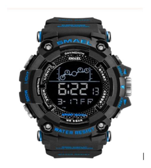 Relógio Masculino Sport Smael Led Digital Prova Água