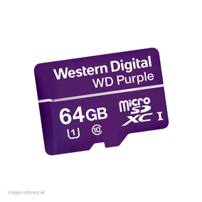 Memoria Microsd Card, Wd Purple, Sdxc, 64gb, Cl10, Uhs-i.