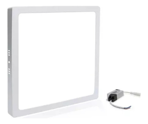 Kit 20 Plafon Led 24w Branco Frio Quadrado Embutir Galaxy