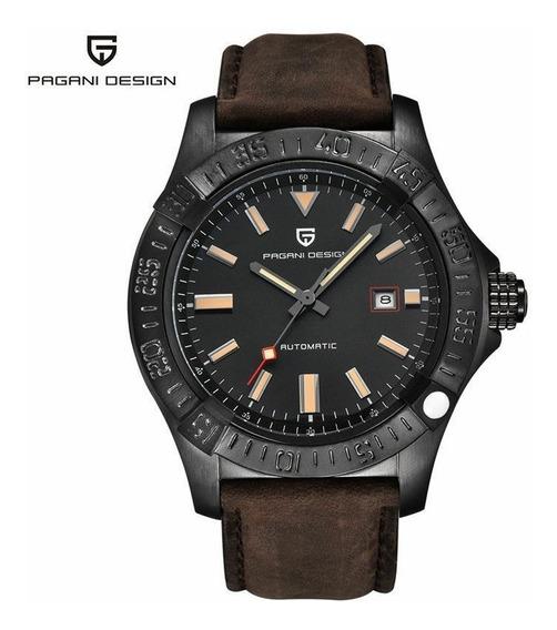 Relógio Pulseira De Couro Automático Pagani Design 1627