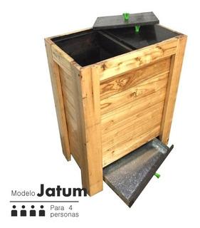 Compostera Tarpuy Jatum 135 L Madera Familiar Redcompostaje