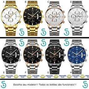 Relógio Nibosi Original Cronógrafo Frete Grátis Luxo Modelos