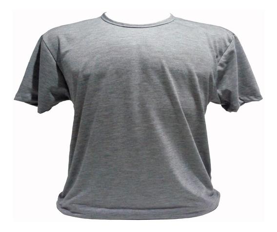 Camiseta Cinza 100% Poliéster Para Sublimação Kit Com 10