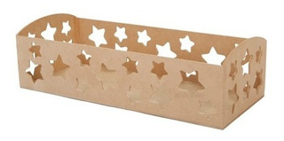 Mf Base Estrellas Rectangular Madera 8.8x30x13.3cm 6 Pzas