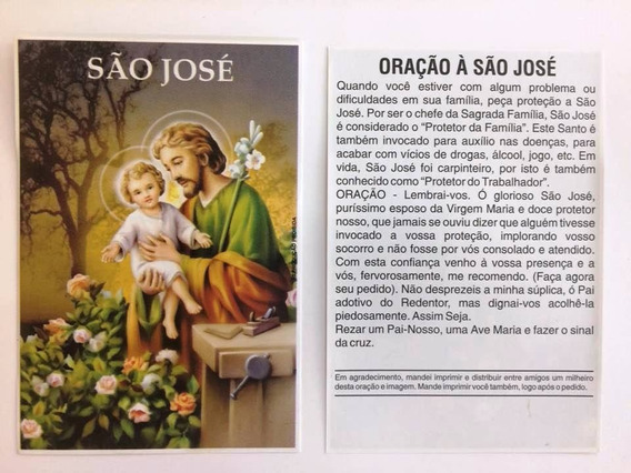 500 Fls Oração De Promessa Santinho São José Imagem