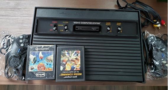 Atari 2600 Polyvox Funcionando - Com 2 Cartuchos Originais