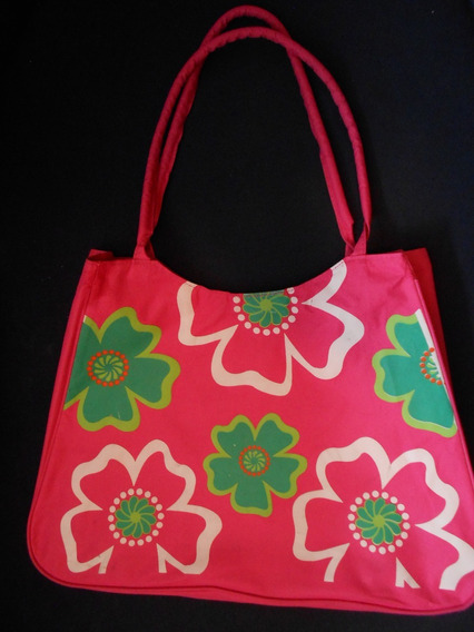 Bolso Para Dama Color Fuscia Estampado (usado)