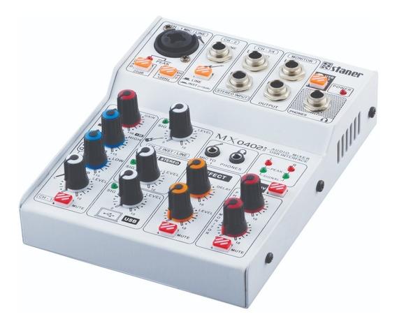 Mixer Staner 4 Canais Mx-0402i - Interface Áudio