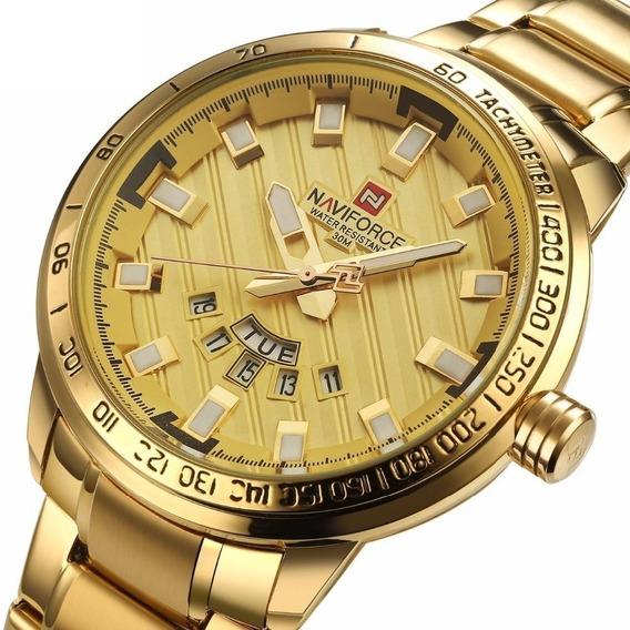 Relógio Naviforce 9090 Luxo Masculino Original Nota Fiscal